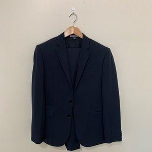 SUIT A 1/2 suit jacket blue blazer w/ pockets
